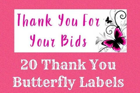 20 Butterfly Labels