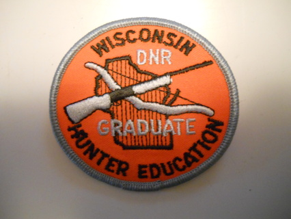 VINTAGE WISCONSIN DNR HUNTER EDUCATION PATCH