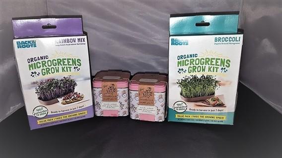4 Grow Kits, Micro-Greens and Chamomile