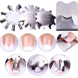 Nail French Line Edge Guide Stainless Steel Trimmer Cutter Multi-size Manicure