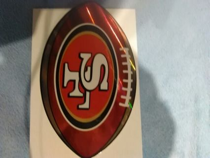 NFL San frinsico 49ers sticker