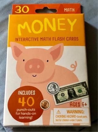 BNIB 30 Fun Learning Flash Cards. Math & Money$!! Ages 6+