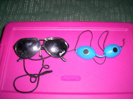 Sun Glasses and Sunning Glasses