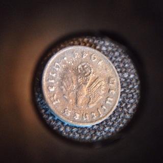 WW II Nazi Germany Coin with Swastika