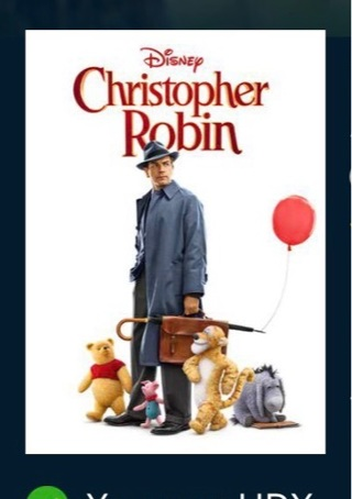 Disney's Christopher Robin HD digital for Google Play