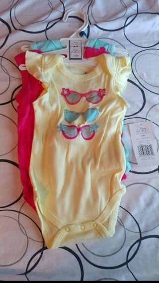 Baby 3-6 months onesie set of 3 NEW
