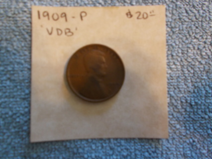 1909  VBD Lincoln  wheat penny.
