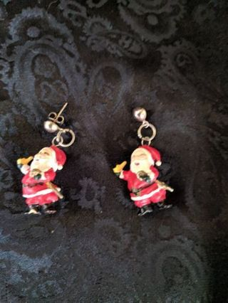 Jolly Santa Earrings