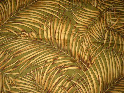 2pieces of Palm Print Fabric