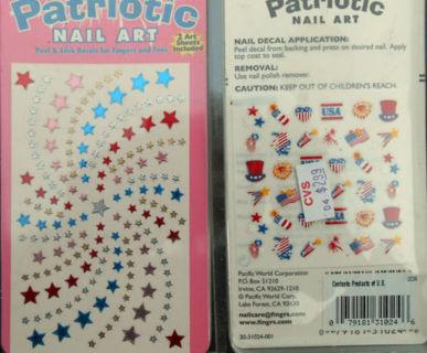 Nail Art Stickers Sheet PATRIOTIC 4TH OF JULY NAIL ART DECALS