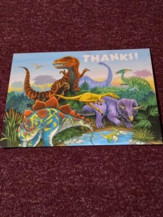 THANKS! Notecards - Dinosaurs