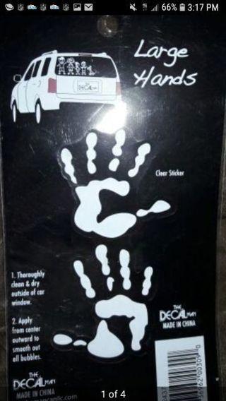 Brand new c l i n g handprint
