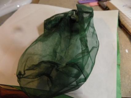 Large Dark Green drawstring jewelry bag