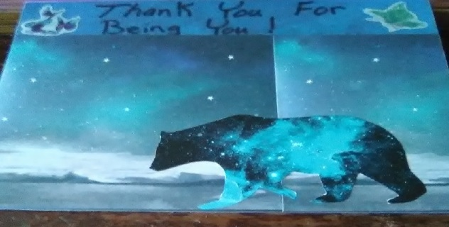 """"""" Thank You For Being You ! """" Design Blank Card with Envelope"""