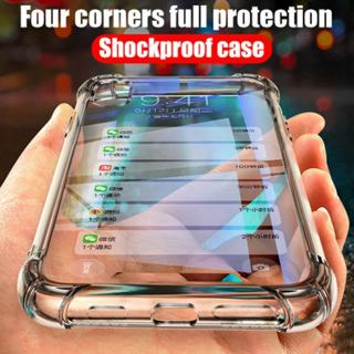 Shockproof Clear TPU Case Cover For Samsung Galaxy S7 Edge S8 S9 Plus Note 9 8