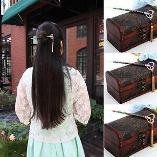 Crystal Heart Shape Design Hair Clip Hair Sticks Hair Fork Tulip Retro Hairpin