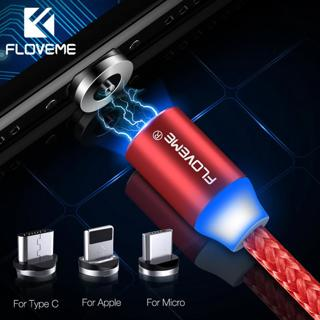 FLOVEME Magnetic Charger Cable Micro USB Type C Lighting Cable 2A Fast Charging Charge USBC/Type-C