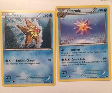 Staryu & Starmie Pokemon cards