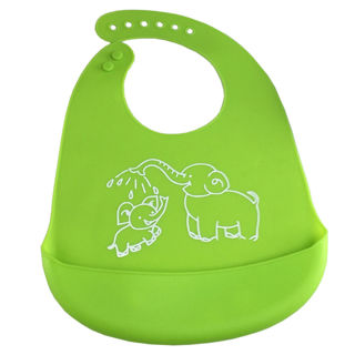 Toddler Silicone Bibs Feeding Baby Crumb Catcher Wipeable Waterproof Pocket Bibs