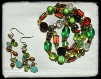 Nice Beaded Necklace and Earrings