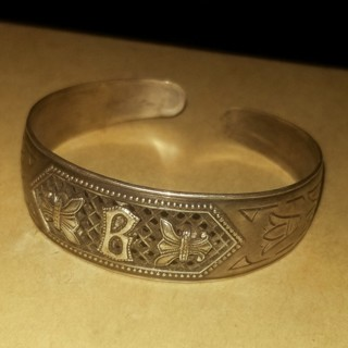 Antique sterling silver cuff