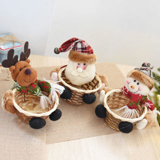 [GIN FOR FREE SHIPPING] Christmas Decoration Supplies Candy Basket
