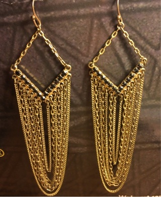 Vintage chain earrings
