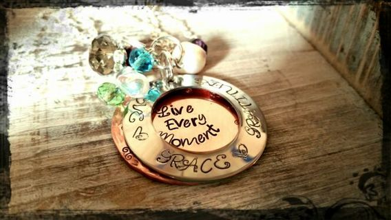 ❤️ VALENTINE'S DAY GIFT SPECIAL ❤️ Hand Stamped Customizable XL Mixed Metal Open Locket Necklace