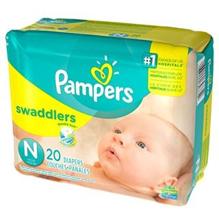 2 ~  Pampers Swaddlers (Newborn) 240 count