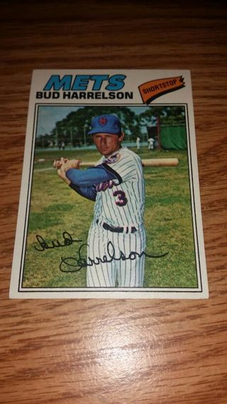 1977 Topps Baseball Bud Harrelson #44 in great condition, free shipping!