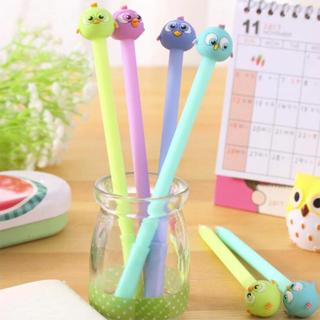 Colored Bird Shape Gel Pen DIY Office Stationery and School Supplies Smooth Writing Black and Blue