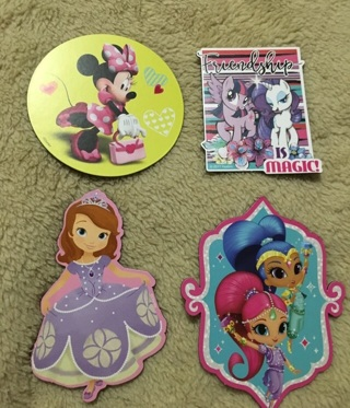 4 girly magnets