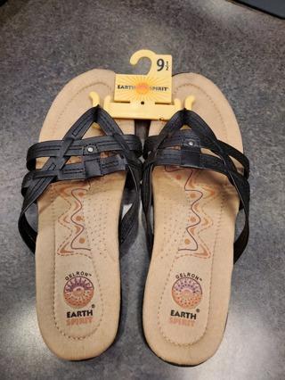 Black Sandals BNWOT womens 9 1/2
