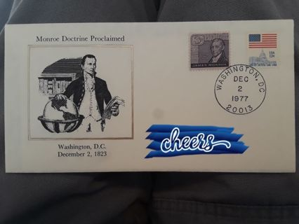 FDC (FIRST DAY COVER) ☆ Monroe Doctrine Proclaimed ☆ FREE SHIPPING! Bonus Gift with GIN