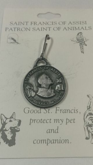 Free: St Francis of Assisi Large Pet Medal with engraving
