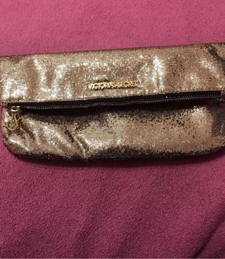 Victoria's Secret Gold Makeup Clutch Bag