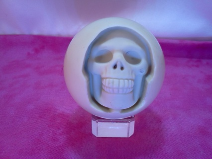* Skull Carved Pool Ball *