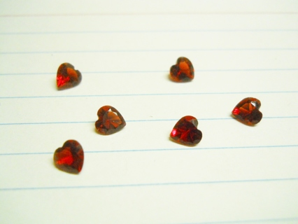 Six Red Heart Charms for Living-Floating Lockets
