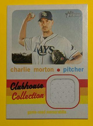 CHARLIE MORTON GAME WORN JERSEY CARD