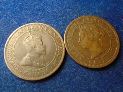 1900-H & 1903 CANADA ONE CENTS...FULL DATES!
