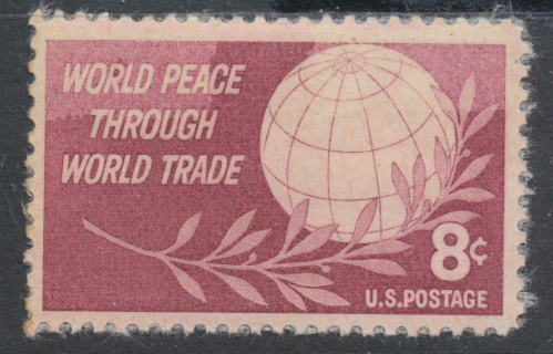 United States: 1959, Globe of the World & Laurel, World Peace Issue, MNH-NG, Sc # US-1129 - US-5324l