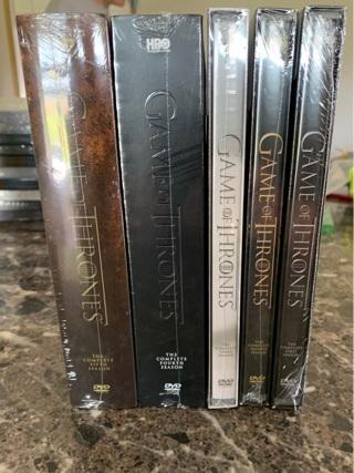 New Game of Thrones dvd seasons 1-5