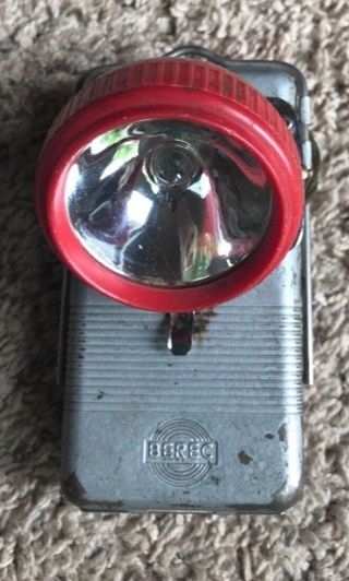 Vintage Berec Portable Light Outdoor Flashlight 1960s Antique