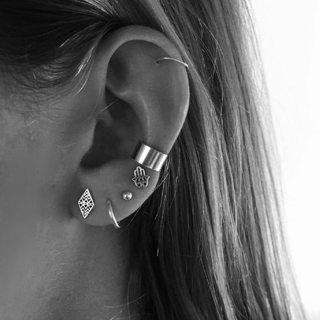 6 Pcs/set Women Fashion Vintage Beads Geometric Fatima Hand Stud Earrings Set Bohemian Glamour
