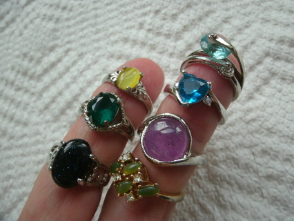 Lot of RINGS (7) Variety