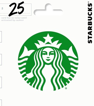 $25.00 Starbucks Gift Card - No GIN - Any GC - Amazon not included