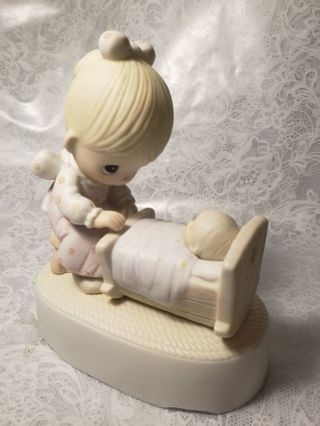 """Precious moments (Music Box ) The Hand That Rocks the Future) """"Mozart's Lullaby"""""""