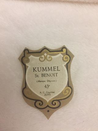 KUMMEL ST. BENOIT LIQUOR VINTAGE PAPER LABEL EPHEMERA