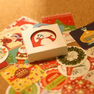 38PCs/Lot Mini Christmas Decoration Sticker Cute Xmas Ornament Paper