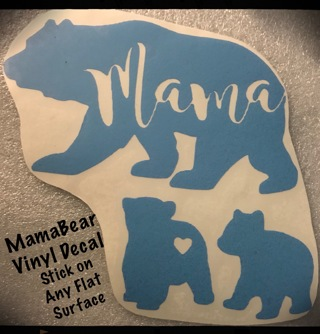 ✰MamaBear✰w/girl & boy✰Vinyl Decal